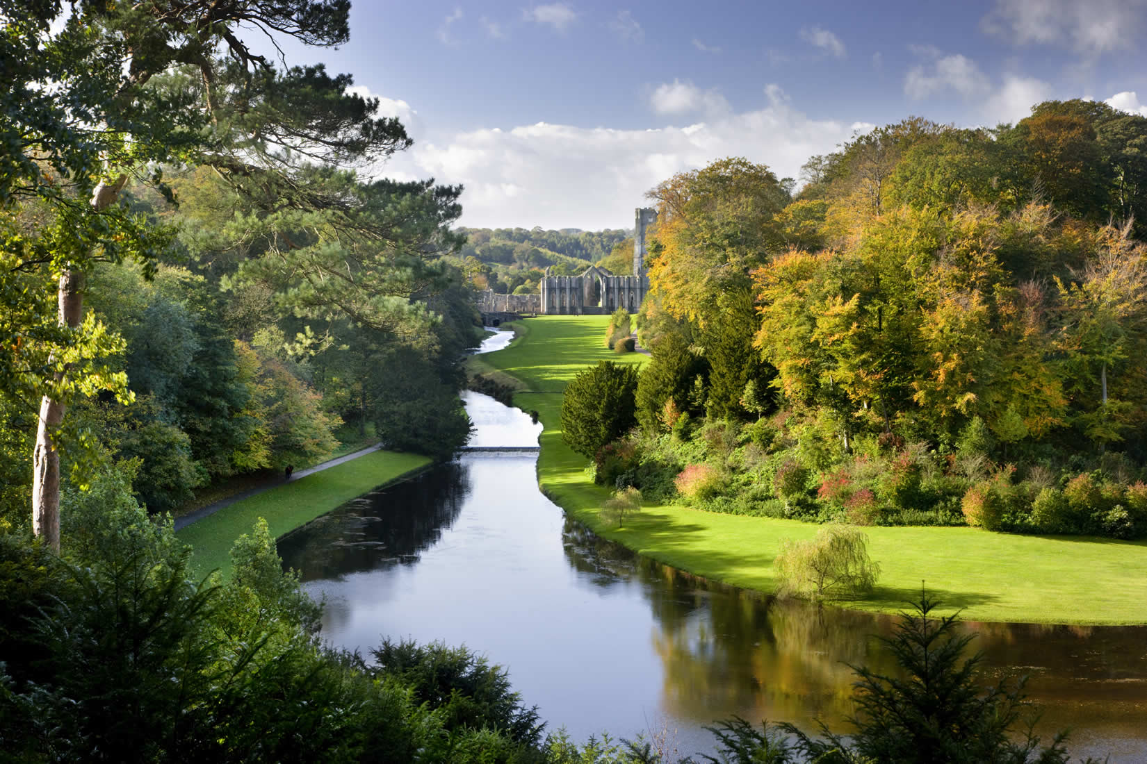Image result for fountains abbey and studley royal water garden