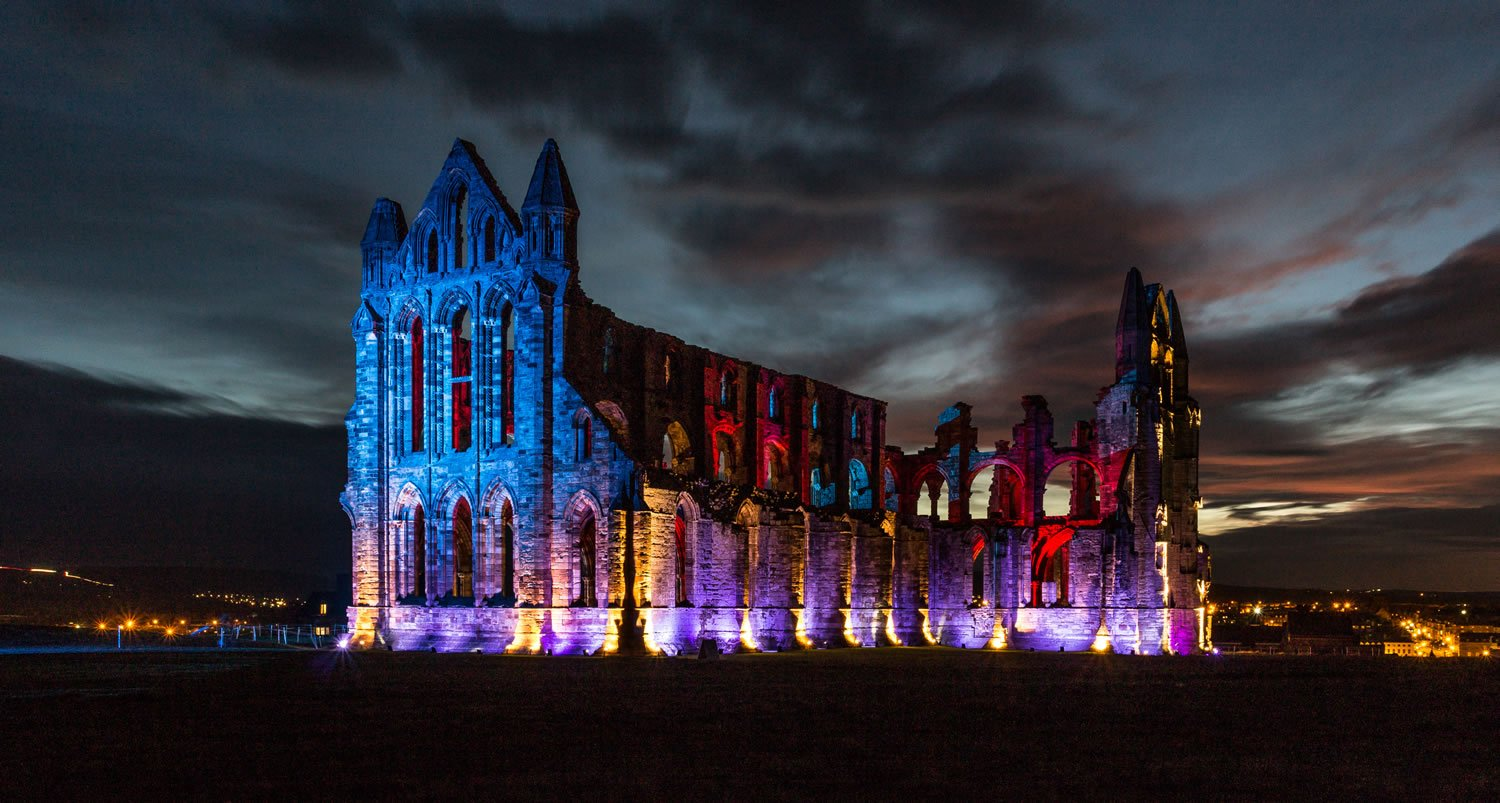 Image result for whitby abbey illuminated 2017