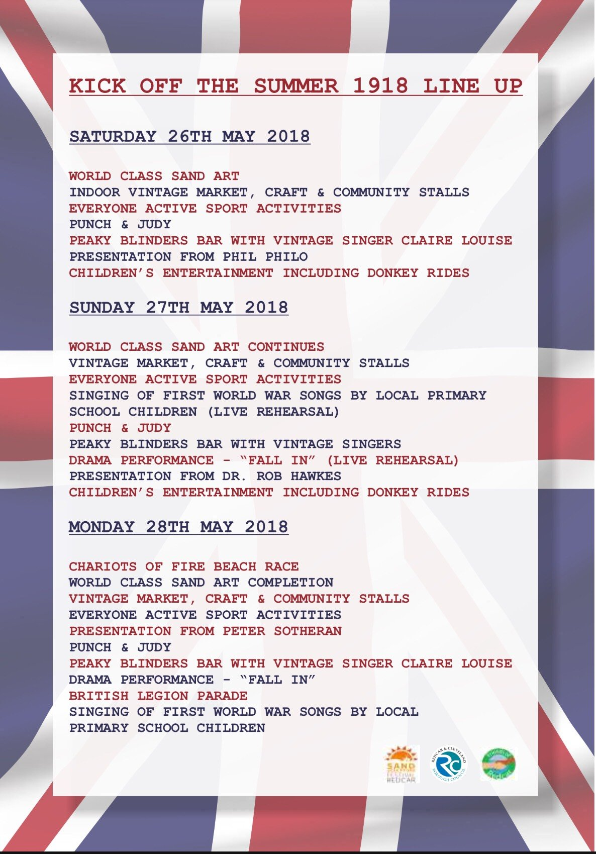 Kick Off The Summer 1918 - End of the First World War Festival